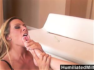 HumiliatedMilfs female domination Debi Diamond tears up