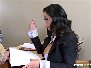 steaming lawyer Nikki Benz getting smashed by a yam-sized schlong