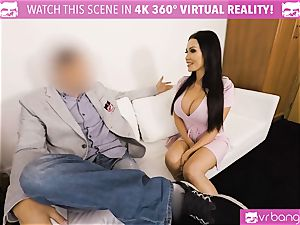 VR porn - Thanksgiving Dinner becomes a insane three-way