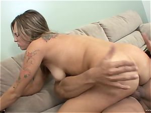 Bailey Blue gets her face plastered with super hot cum