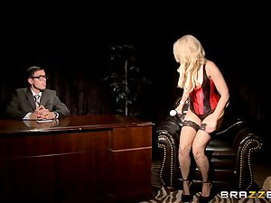 sweeping blond Anikka Albrite flashes how she enjoys to fuck