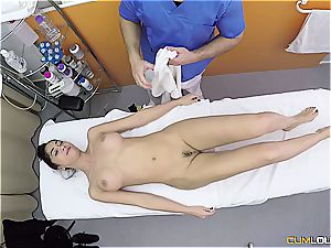 Getting the rubdown she always wanted