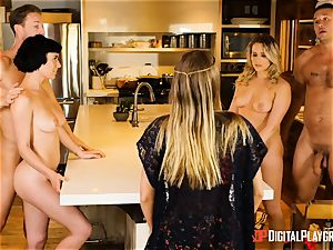 Mia Malkova and Olive Glass cooch plumbed in the kitchen