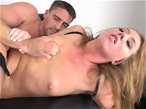 Maddy OReilly wedged total in her lingerie